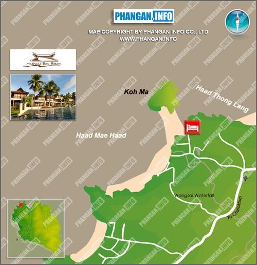 Mae Haad Bay Resort Location Map