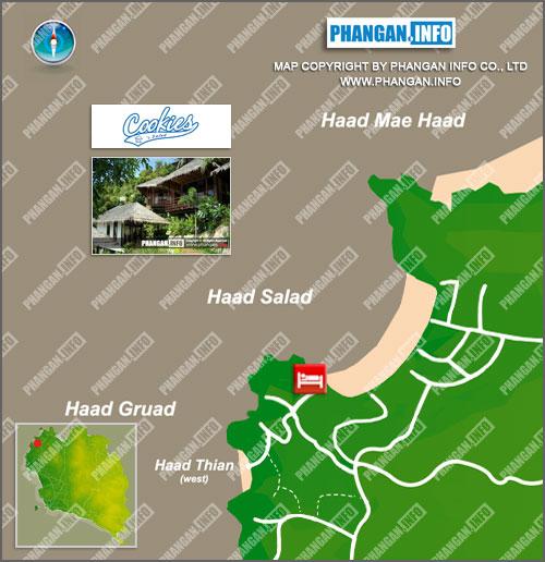 Cookies Salad Resort Location Map