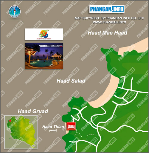 Haad Tian Beach Resort Location Map