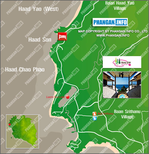 Haad Son Resort Location Map