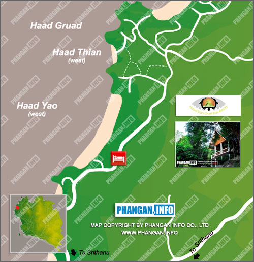 Haad Yao Over Bay Resort Location Map