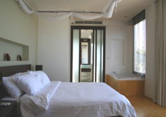 Inside Spacious Beachfront Suite