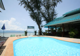 Swimming Pool and Restaurant at Phangan Great Bay