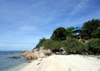 Relax on Private White Sand Beach at Dragon Hut