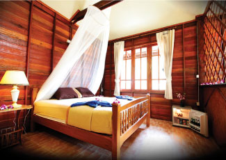 WOODEN VILLA AIR CON 1 DOUBLE BED