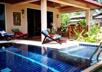 Fabios resort koh phangan thailand visit us on ao ban tai for Garden pool villa outrigger koh samui