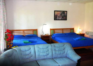 WIDE BEDROOM WITH 2 DOUBLE BEDS