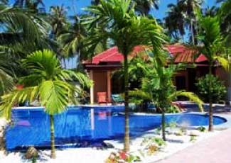 NICE POOL WITH TROPICAL GARDEN