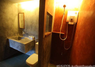 Bathroom inside Superior Garden Bungalow