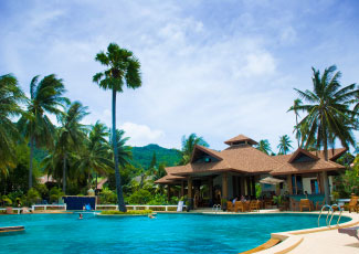 SWIMMING POOL AT RIN BEACH RESORT