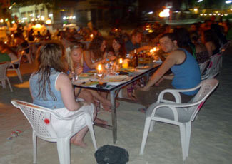 Dinner on The Beach at Haad Rin
