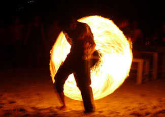 Full Moon Party Fire Poi Sticks