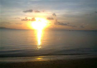 Sunset at Haad Rin Nai Beach