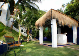 Villas are Set in Lush Garden