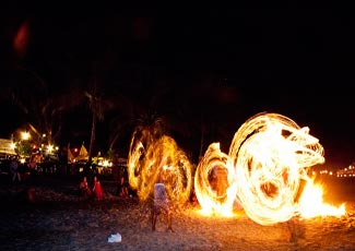 Fire Show at Bottle Beach
