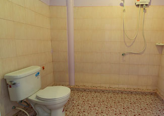 AC Room Toilet with Hot Shower