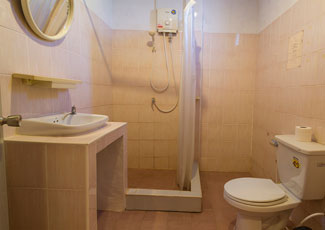 Fan Room Toilet with Hot Shower
