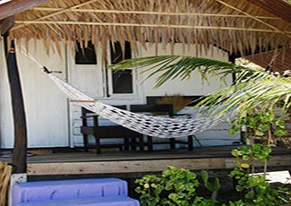 Outside Bungalow with Hammock