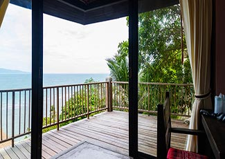 Sea View Villa's big balcony