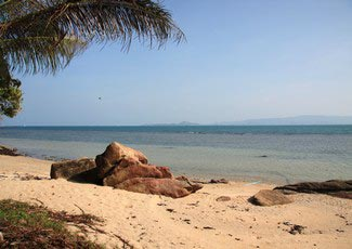 Beach with Samui Islande View