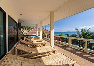 Upstairs Beachfront Balcony