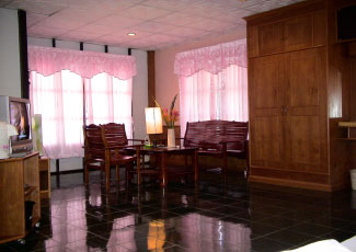 LIVING AREA IN VIP BEACHFRONT BUNGALOW