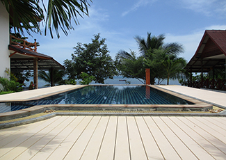 Relax in the pool with beachview