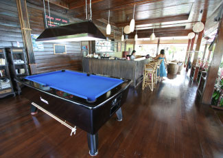 Pool Table at Salad Hut