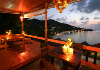 Terrace Restaurant with Romantic Scenery