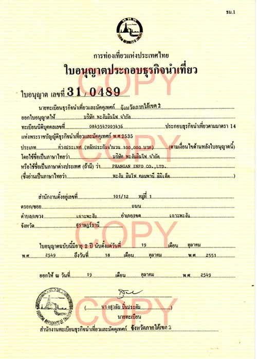 koh phangan tat license: ko phangan, thailand