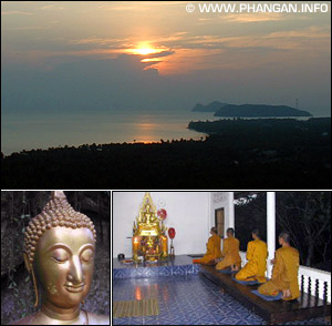 Wat Khao Tam: Sunset Views to Koh Samui, Sukhothai Buddha and the Chanting Hall